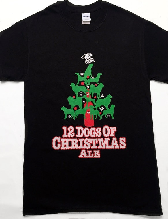 12 Dogs Of Christmas.12 Dogs Of Christmas Ale T Shirt