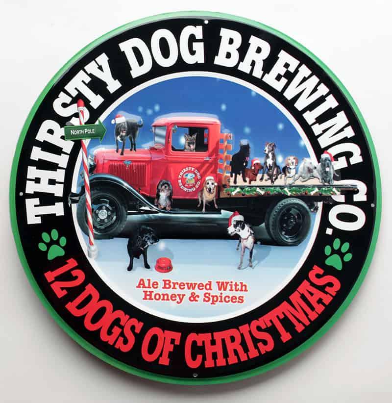 12 Dogs Of Christmas.Tin Tackers Sign 12 Dogs Of Christmas