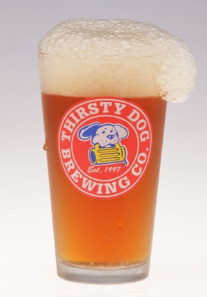 Thirsty Dog Logo Glass - 4 Pack